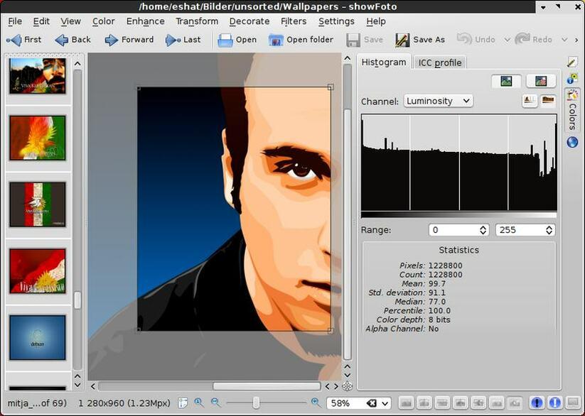 showfoto editor de imagenes